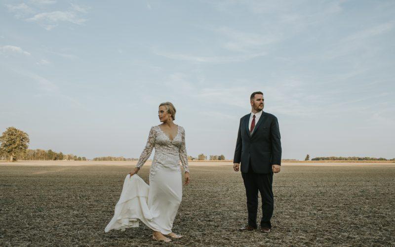 Sunset Tipton, IN Wedding // Abby + Blake